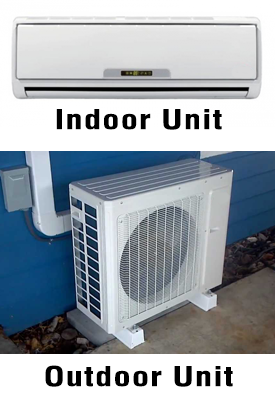 Ductless heat pump/mini-split system